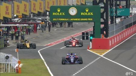 2017年F1第16戦日本GP、FP1結果