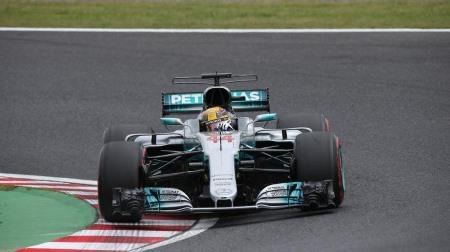 2017年F1第16戦 日本GP、PPはハミルトン