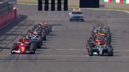 2017年F1第16戦のスタート