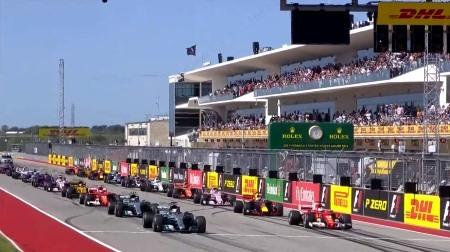 2017年F1第17戦のスタート