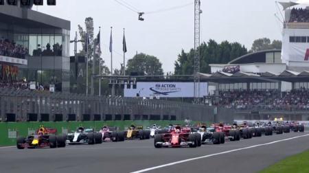 2017年F1第18戦のスタート