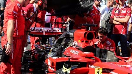 フェラーリ、通常とは別の異なるオイルタンクを使用