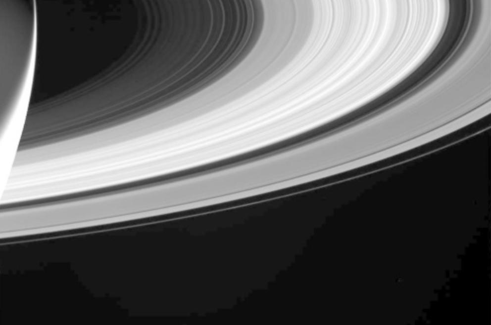 カッシーニが撮影した土星の環1