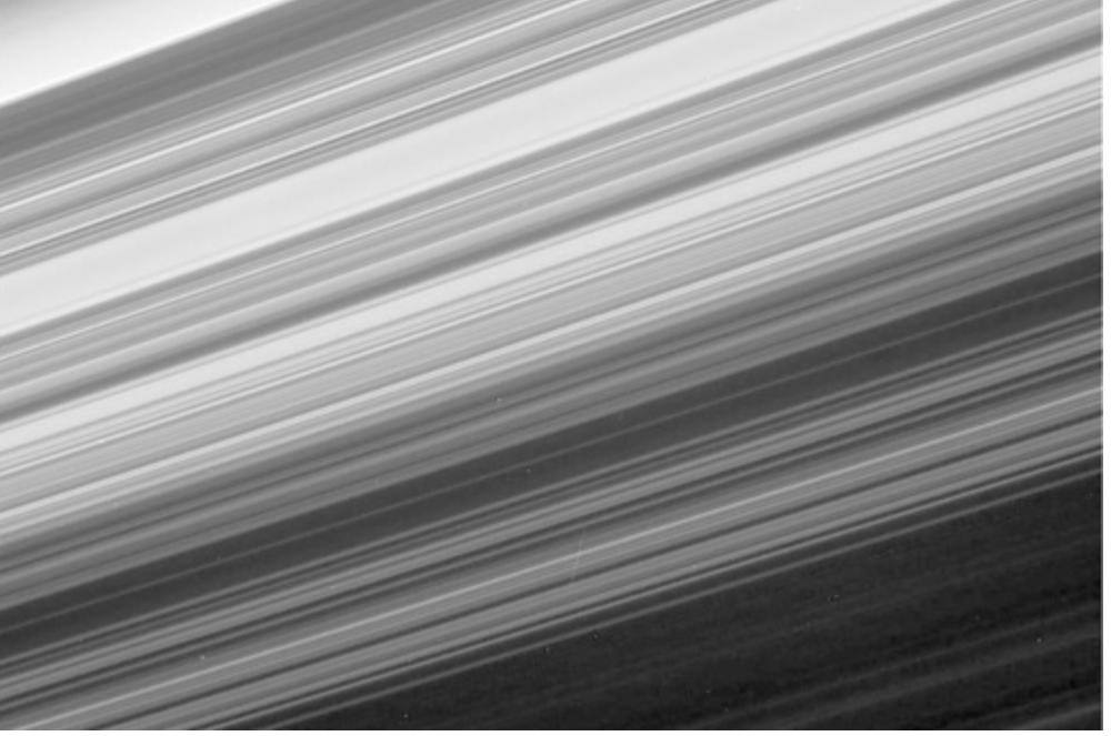 カッシーニが撮影した土星の環2