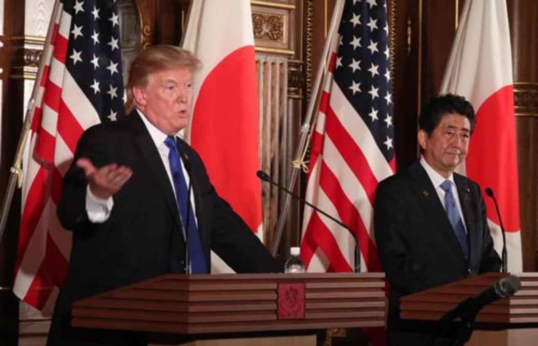 日米首脳会談会見2017年11月東京
