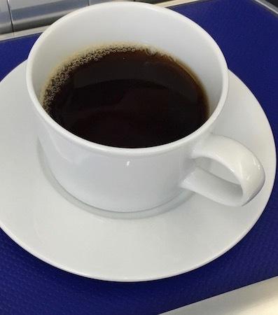 ANA859便 和食の機内食 食後のコーヒー