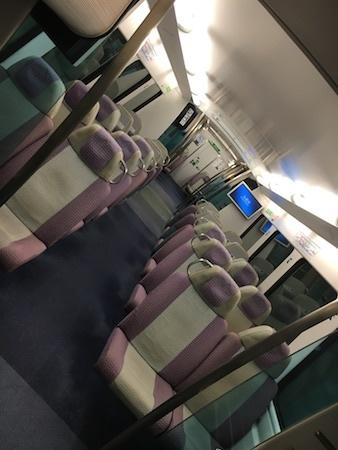 機場快綫 1両目・サイレントカーの雰囲気