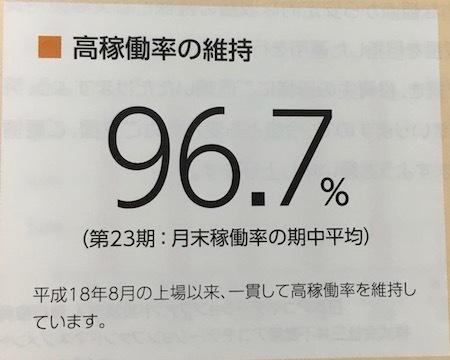 日本アコモデーションファンド投資法人 高い稼働率