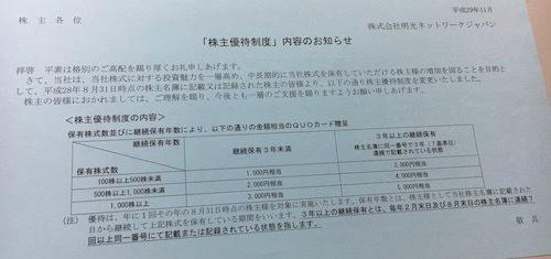 明光ネットワークジャパンの株主優待