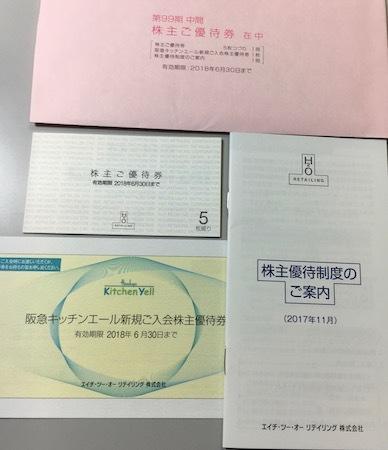 エイチ・ツー・オー リテイリング 2017年9月権利確定分 株主優待