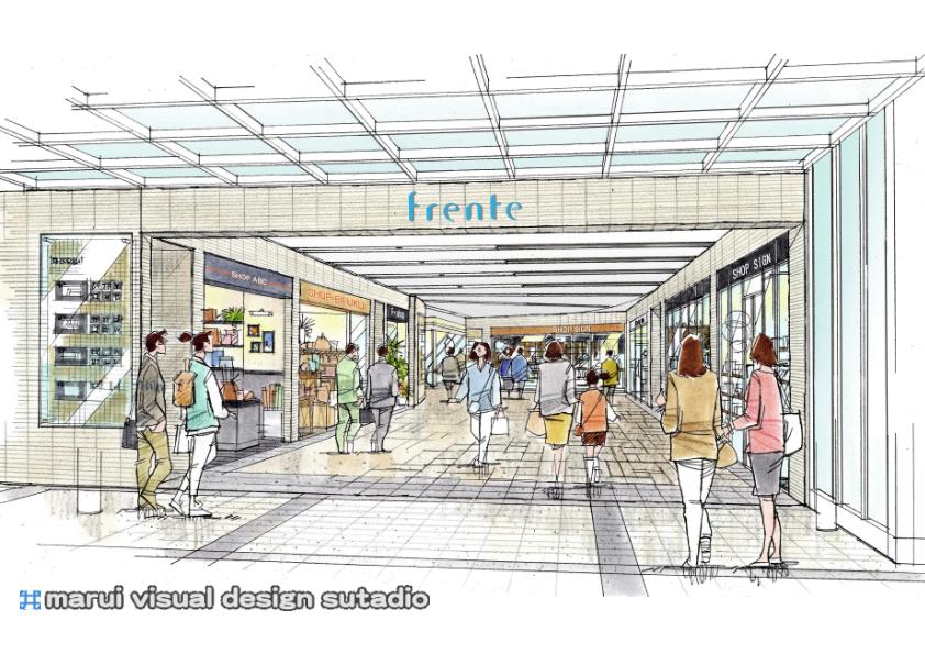 永福町駅2F・Frenteイメージパース