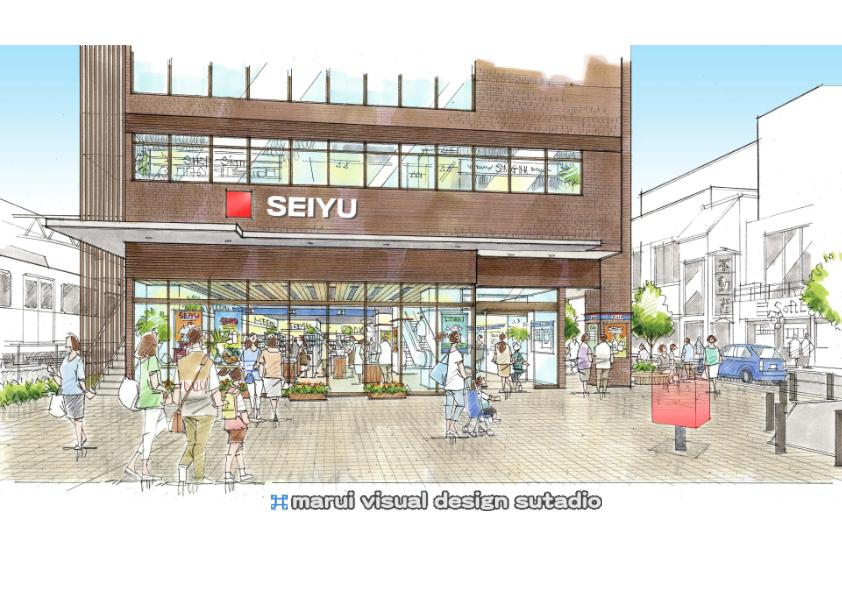 東長崎駅南口計画・イメージパース
