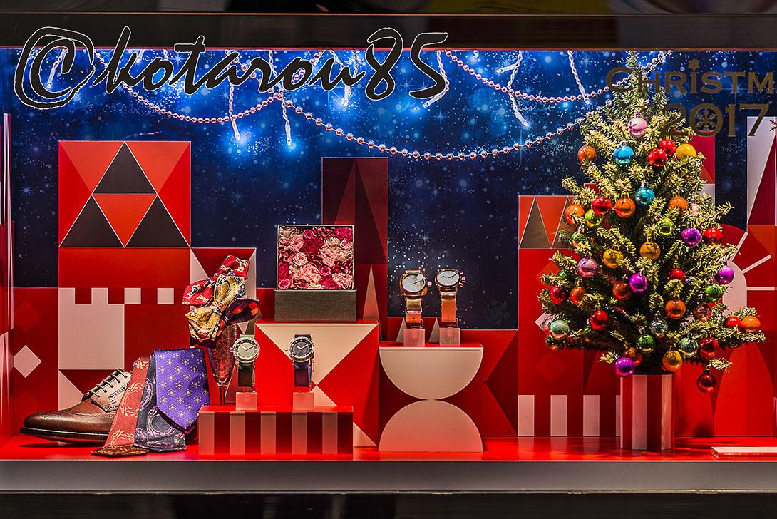 ショーウィンドウのクリスマス商戦 20171123