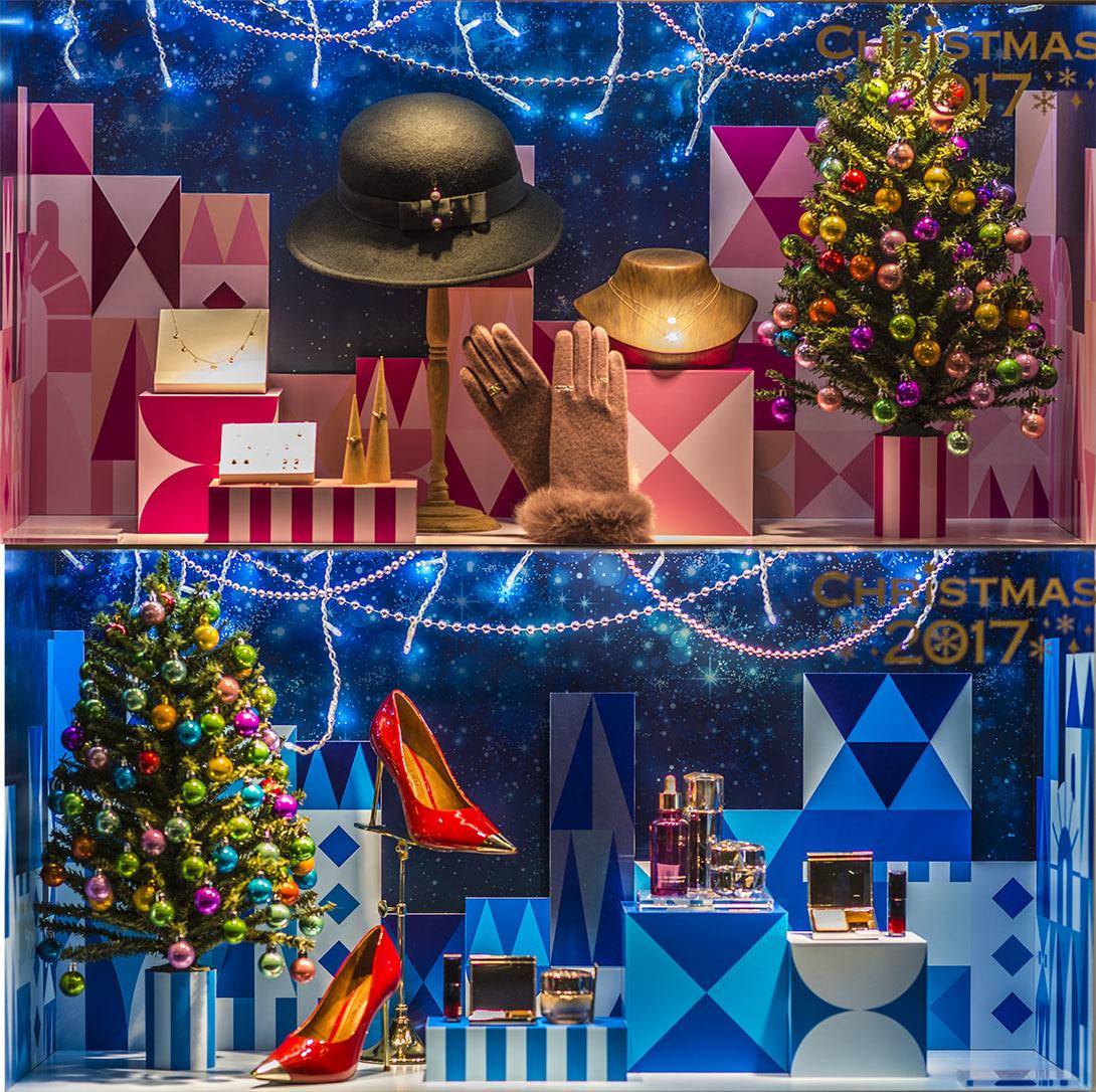 ショーウィンドウのクリスマス商戦3 20171123