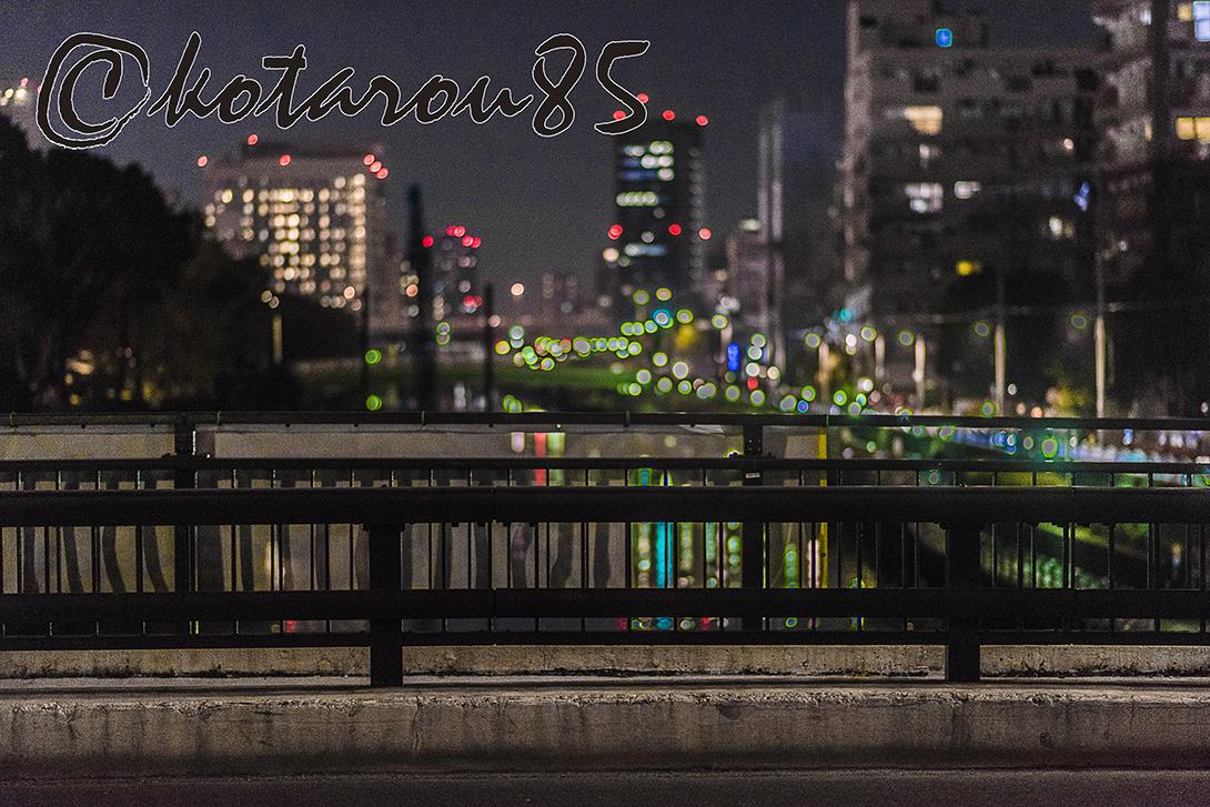 川のある町の夜景 20171130