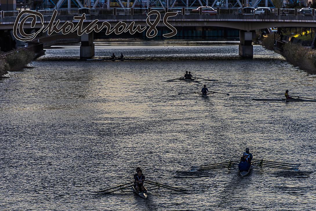 小名木川をすべるボート3 20171222