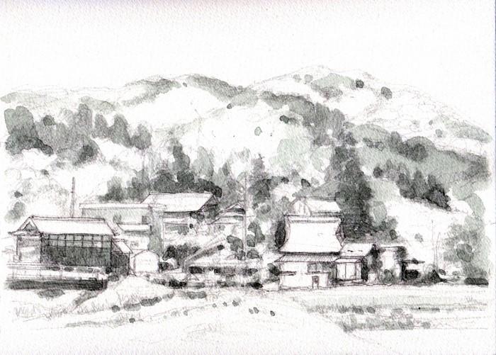 兵庫の民家 グリザイユ (700x501)