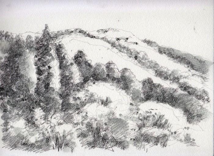 兵庫 秋の山 グリザイユ (700x512)