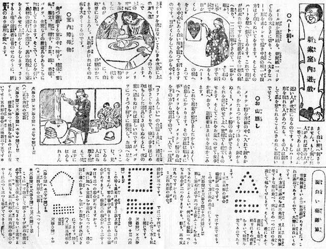 新案室内遊戯1927jan