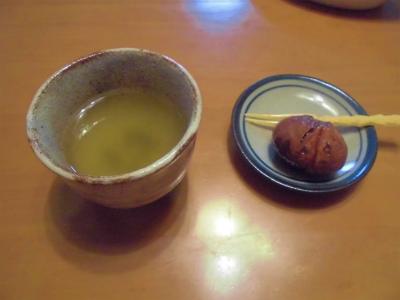 10.22栗の渋皮煮でお茶