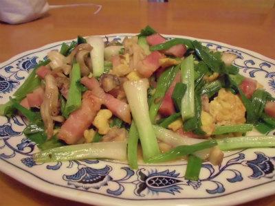 11.11分葱とベーコンの炒め物