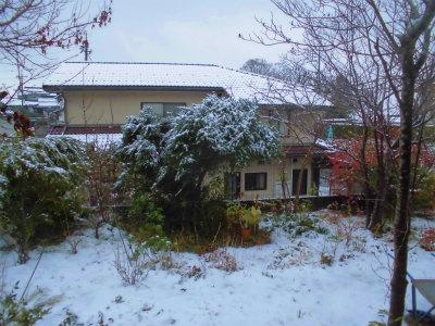 12.9初めての積雪