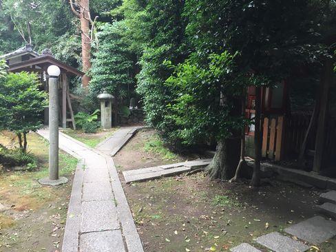 蚕ノ社・椿丘大明神入口_H29.06.27撮影