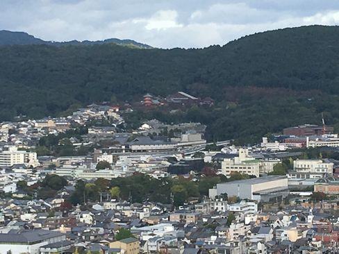 京都タワーから清水寺_H29.11.04撮影