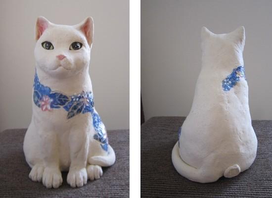 花猫-すず音窯-陶器の置物