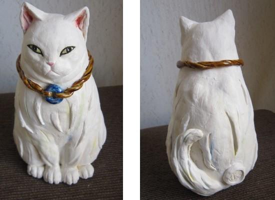 にんまり猫#陶器の猫置物#すず音窯