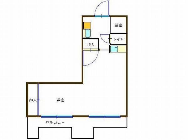サンケイマンション第9ビル 1R19帖 6号タイプ 横