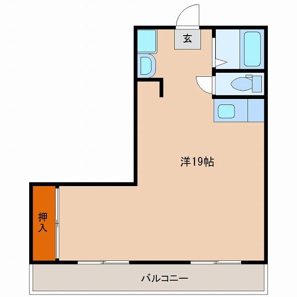 サンケイマンション第9ビル(1LK)