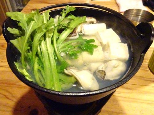 30沖縄島豆富の湯豆富+カキ