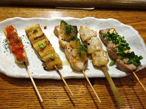 46魚串おまかせ五種盛り