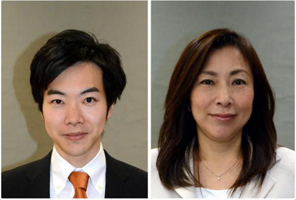 音喜多駿(左)、上田令子両都議