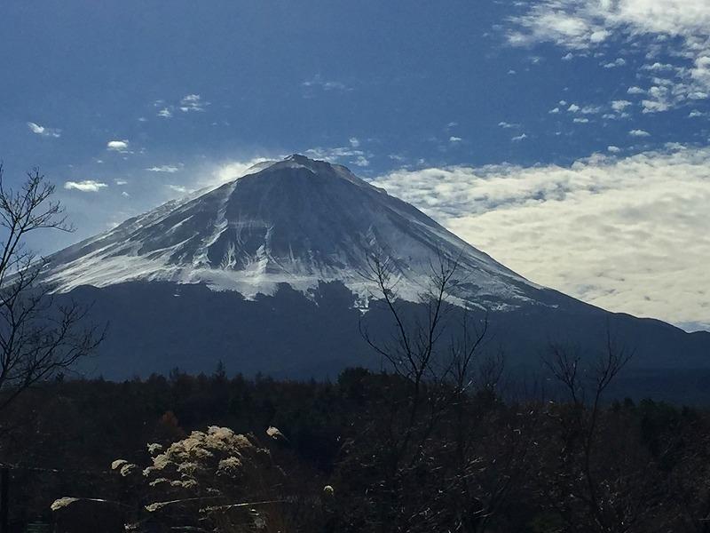 初冬の富士山北麓