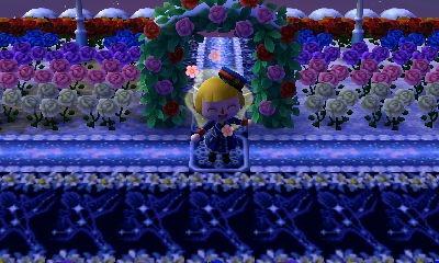 虹色のバラ畑