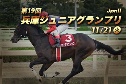 【地方交流重賞】第19回 兵庫ジュニアグランプリ(JpnⅡ)