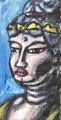 2京都 宝菩提院願徳寺の国宝の美仏如意輪観世音菩薩半跏像