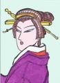 4浮世絵豊国風日本髪つぶし島田