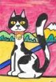猫のいる絵 (3)