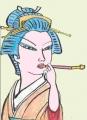 喜多川歌麿 青楼七小町 大文字屋内多我袖 だいもんじやないたがそで