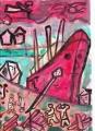 造船所の赤い船シャガール