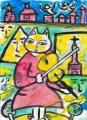 風邪バイオリン弾きシャガールの (1)