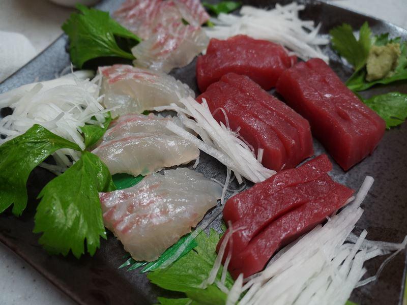 鯛と鮪の刺身