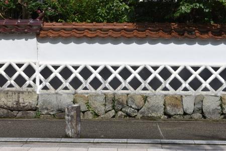 津和野の石州瓦となまこ壁
