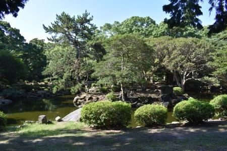 萩城東園御茶屋庭園跡