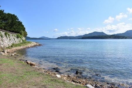 萩城小浜の海