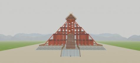4古代出雲大社神殿正面(スモッグ)3