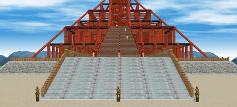5古代出雲大社神殿正面2